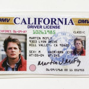 Drive License Marty McFly